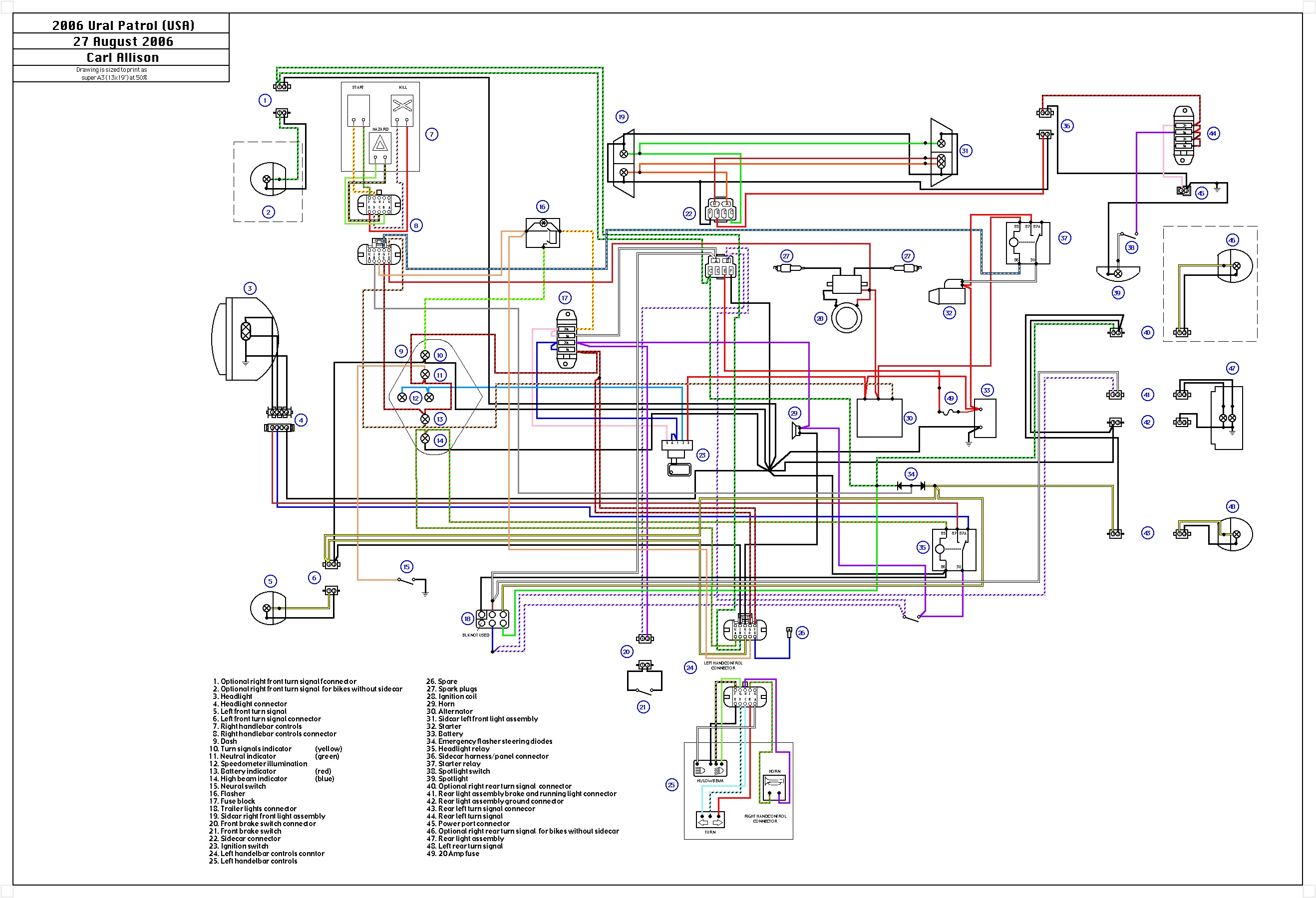 ural 650 wiring diagram   23 wiring diagram images